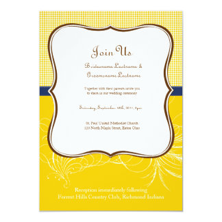 Wedding Invitation in Summer Yellow