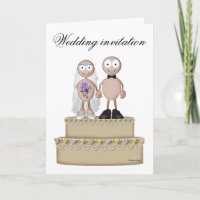 Wedding invitation light couple