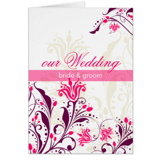WEDDING INVITATION :: lily Greeting Cards