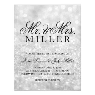 Wedding Invitation - Lit Silver Glit Fab