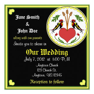 Wedding Invitation - Long, Happy Relationship Hex