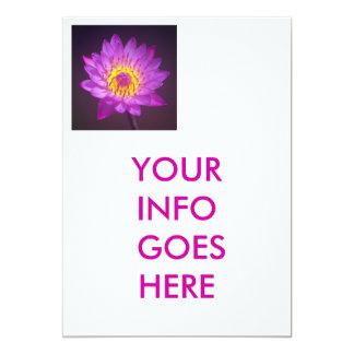 Wedding Invitation - lotus flower