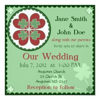 Wedding Invitation - Lucky in Love Hex