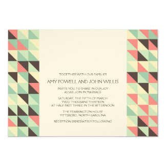 Wedding Invitation | Modern Triangles