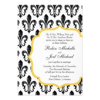 Wedding Invitation | New Orleans | Gold