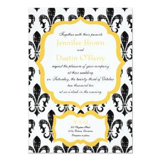 Wedding Invitation | New Orleans | Gold Alternate