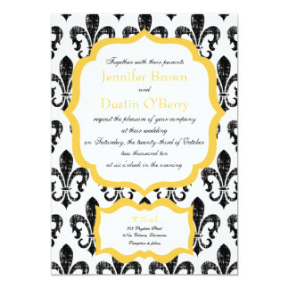 Wedding Invitation | New Orleans | Gold Alternate