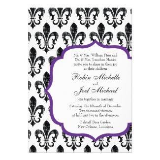 Wedding Invitation | New Orleans | Purple