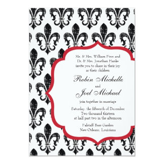 Wedding Invitation | New Orleans | Red