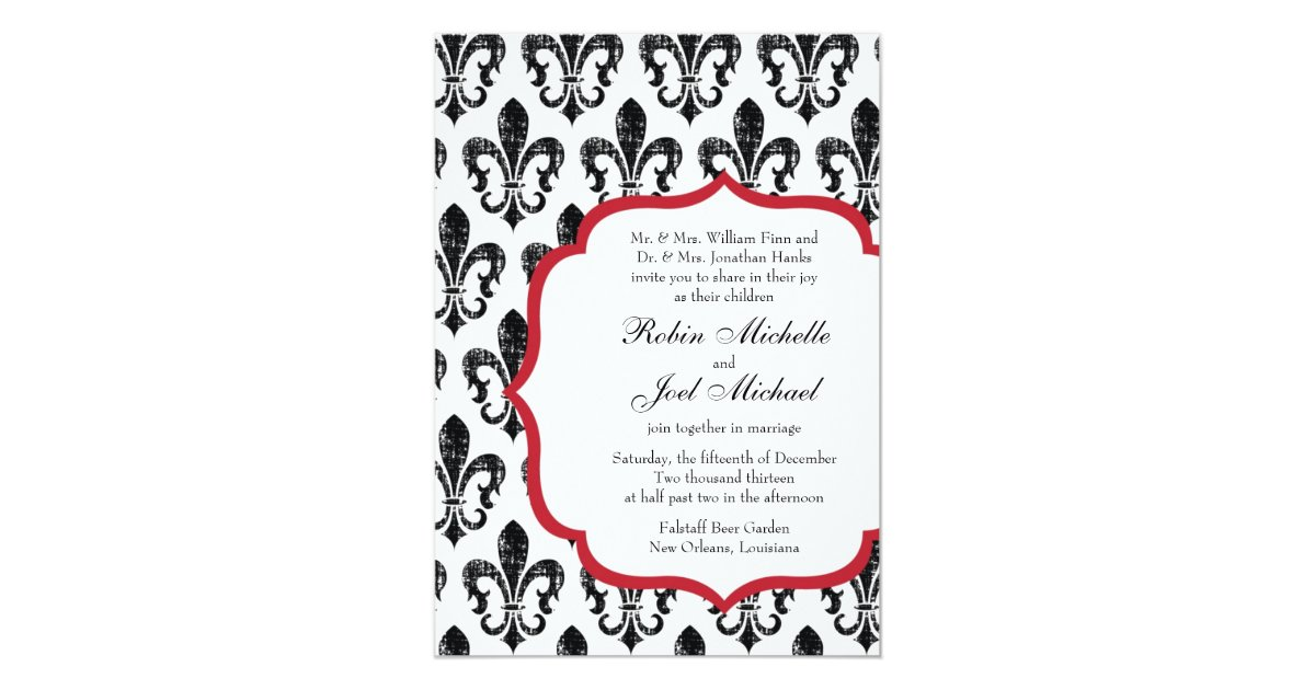 Wedding Invitations New Orleans: Wedding Invitation