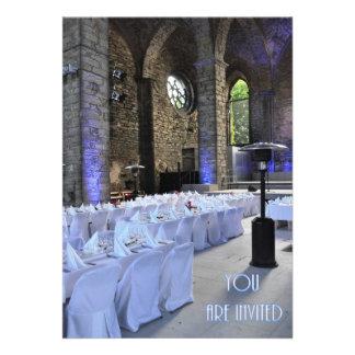 Wedding Invitation Old Gothic Church