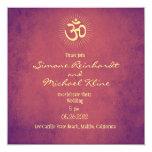 "Wedding Invitation, OM symbol 5.25"" Square Invitation Card"