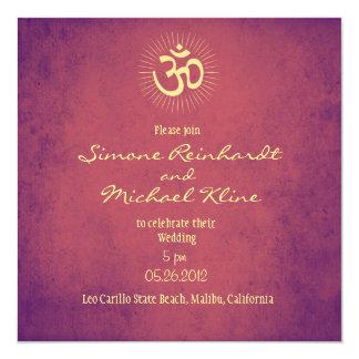 Wedding Invitation, OM symbol