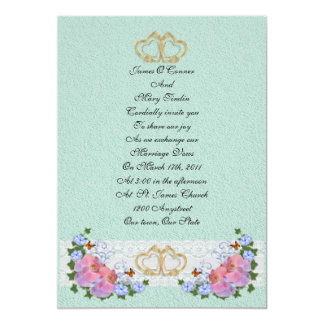 Wedding invitation orchids and ivy