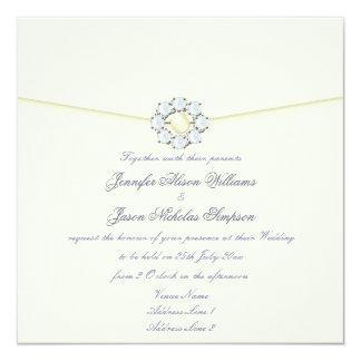 Wedding Invitation Pearl and Diamond Broach
