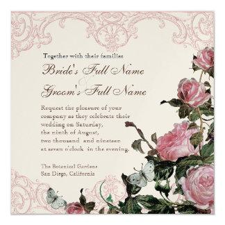 Wedding Invitation Pearly - Trellis Rose Vintage