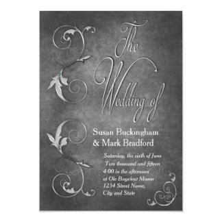 WEDDING INVITATION - PEWTER/SWIRL COLLECTION