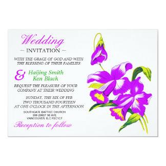 Wedding Invitation Pink Orchid Wedding Flowers 2