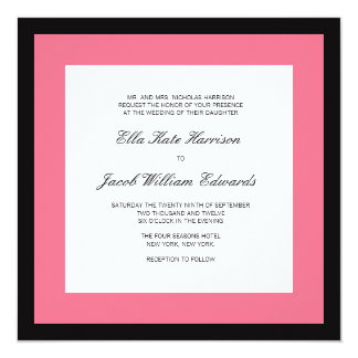 Wedding Invitation // Posh Pink