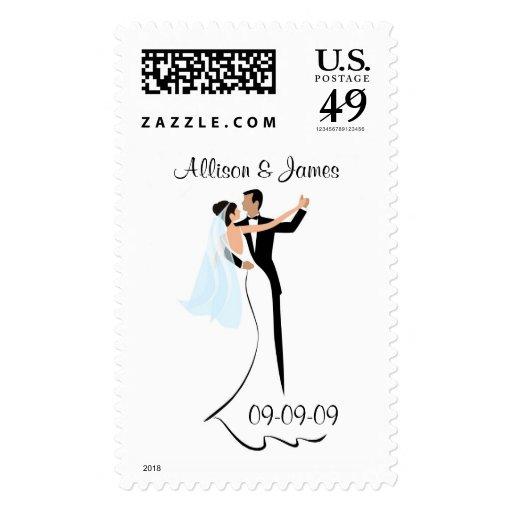 Wedding Invitation Postage Stamps