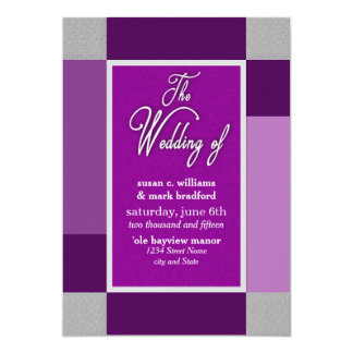 WEDDING INVITATION - PURPLE ABSTRACT COLLECTION