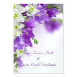 Wedding Invitation--Purple Flowers Vertical Card