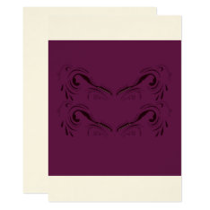Wedding Invitation : Purple With Beige at Zazzle