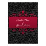 Wedding Invitation - Red and Black
