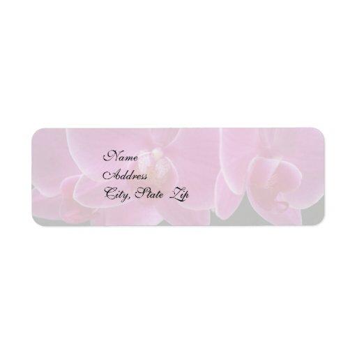 Wedding Invitation Return Address Label Orchids Zazzle