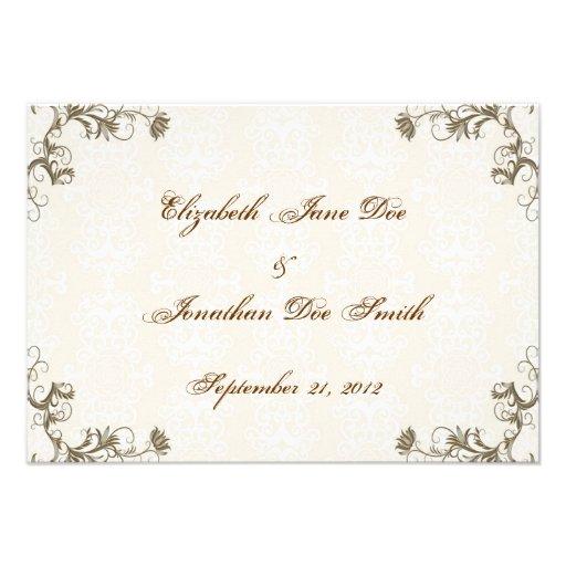 Wedding Invitation RSVP Card 35 X 5 Invitation Card