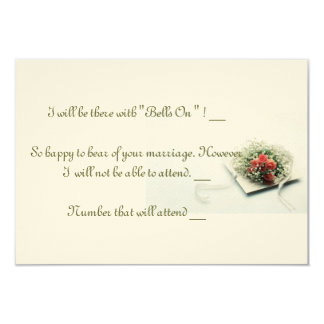 """Wedding Invitation RSVP Card """"Roses And Ribbons"""""""