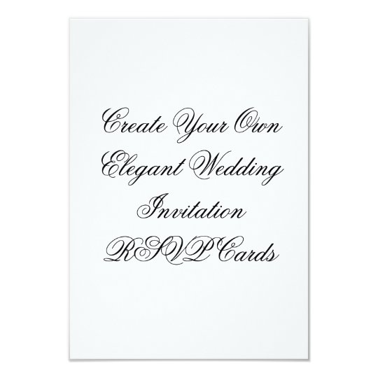 Wedding Invitations Make Your Own: Wedding Invitation RSVP Cards Create Your Own