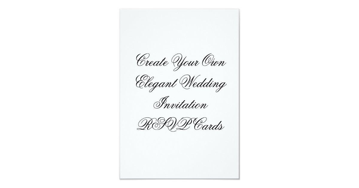 Wedding Invitation RSVP Cards Create Your Own