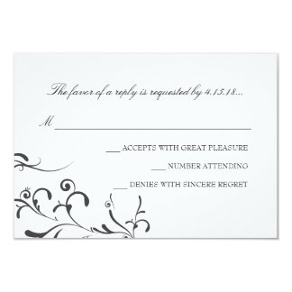 "Wedding Invitation -RSVP | Floral Grace |wb 3.5"" X 5"" Invitation Card"