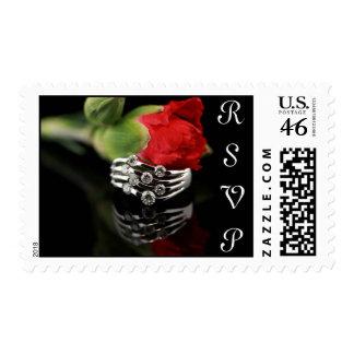 Wedding Invitation RSVP Postage Stamp
