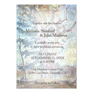 Wedding Invitation   Rustic Country Pastel Tree