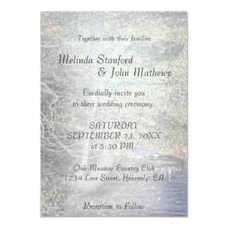 Wedding Invitation   Rustic Country Stream