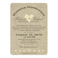 Wedding Invitation | Rustic Linen Monogram
