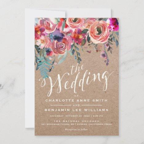 WEDDING INVITATION | Rustic Spring Elegant Floral