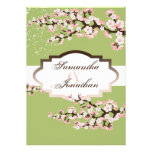 Wedding Invitation Sage Green Cherry Blossom