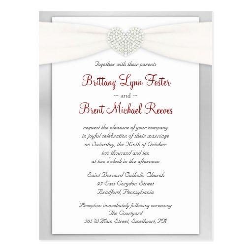 wedding invitation sample postcard zazzle