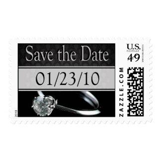 Wedding Invitation Save the Date Postage Stamp