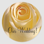Wedding Invitation Seal_Cream Rose_Our Wedding! Stickers