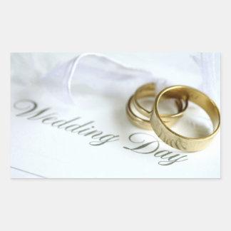 Wedding Invitation Seals Rectangular Sticker