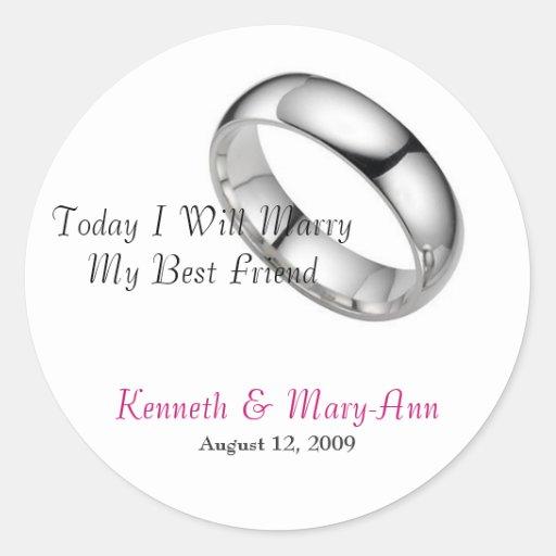 Wedding Invitation Seals Sticker