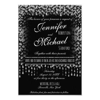 WEDDING INVITATION | Silver Falling Stars