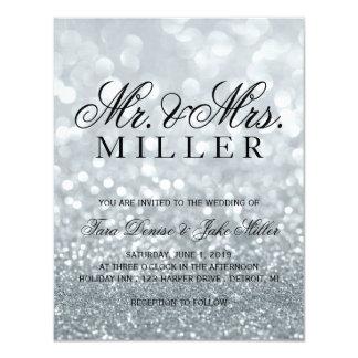 Wedding Invitation - Silver Glit Fab