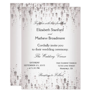 Wedding Invitation | Silver Glitter