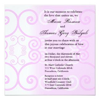 Wedding Invitation Simply Pink