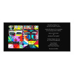 "Wedding Invitation (slim rectangle) 4"" X 9.25"" Invitation Card"